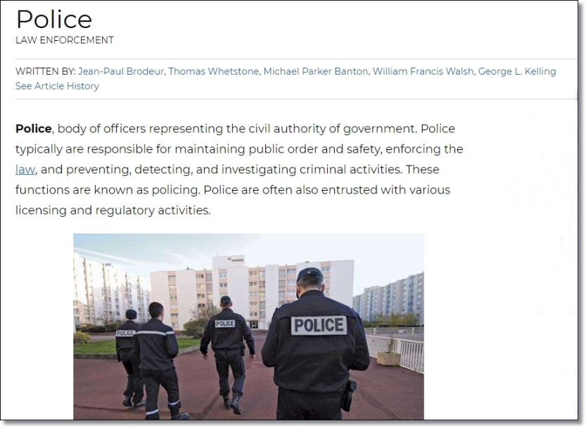 Police Brittanica